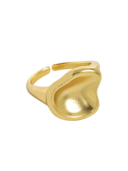 18K gold [7 adjustable] 925 Sterling Silver Smooth Geometric Minimalist Band Ring